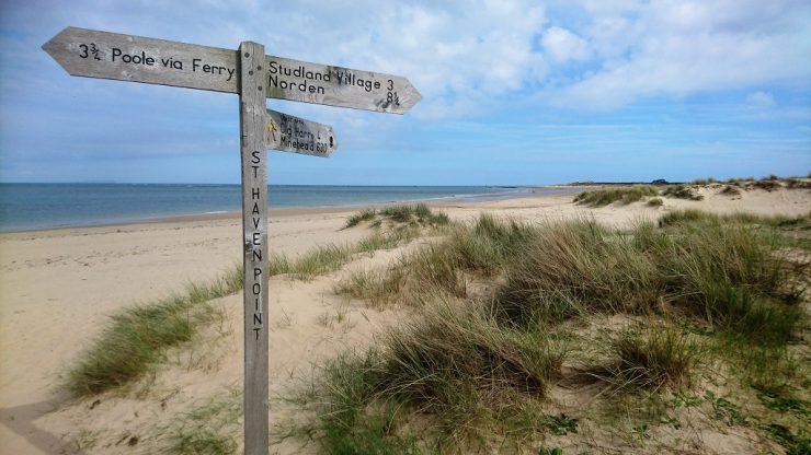 Studland Bay Footpath Sign
